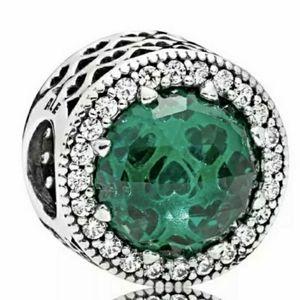 Pandora green radiant Hearts charm.